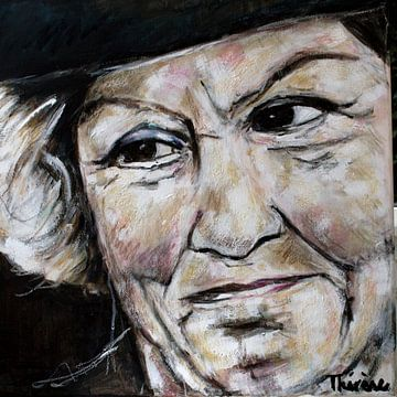 Portret schilderij van prinses Beatrix der Nederlanden. van Therese Brals