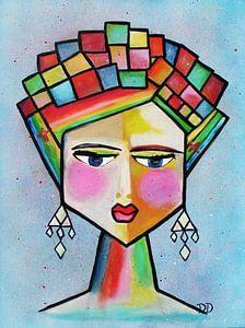 Frida Kahlo Abstrakt