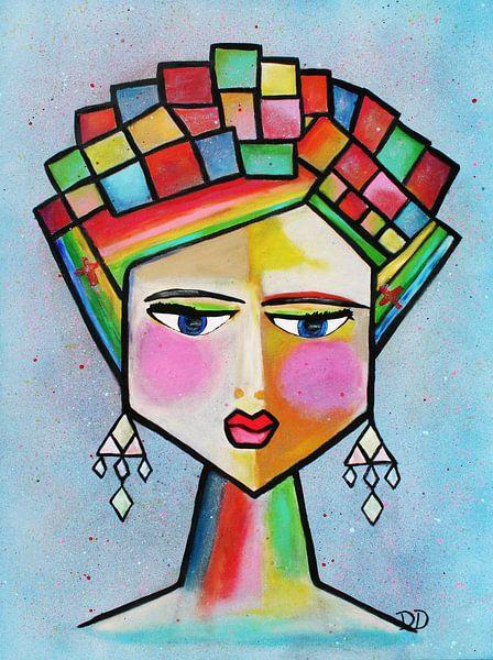 Frida Kahlo Abstrakt von Danielle Ducheine