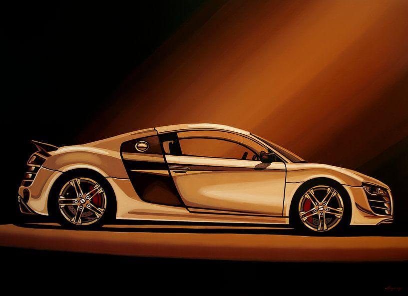 Audi R8 2007 Schilderij van Paul Meijering