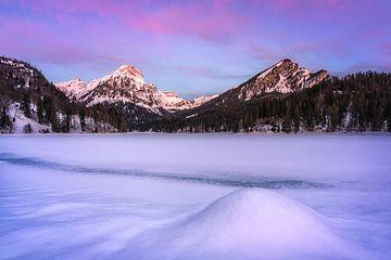Winterliches Alpenglühen