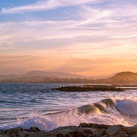 Malaga sunset - Malaga - Andalusie, Spanje van Gerard van de Werken