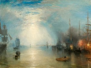 William Turner. Keelmen Heaving in Coals by Moonlight