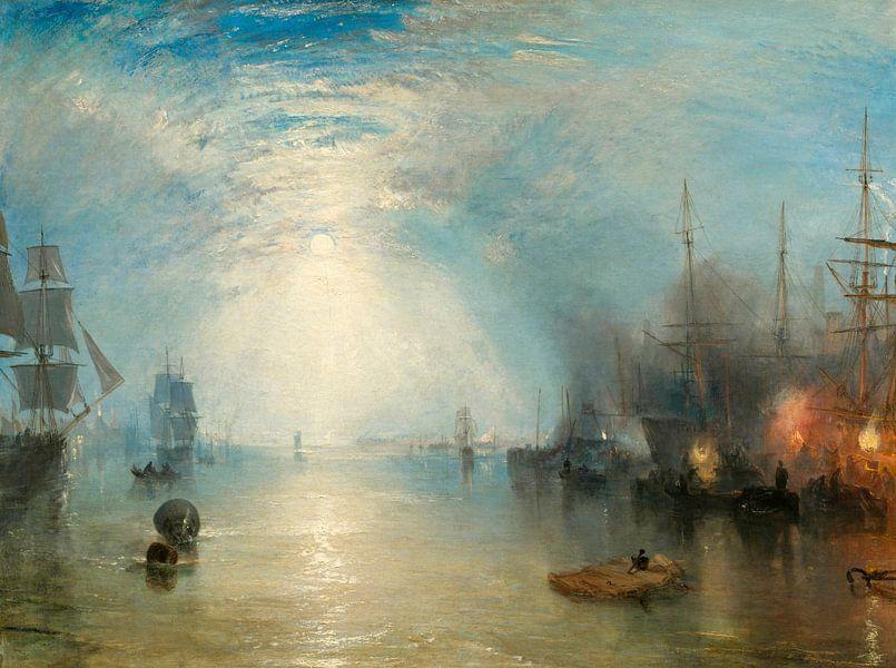 William Turner. Keelmen Heaving in Coals by Moonlight van 1000 Schilderijen