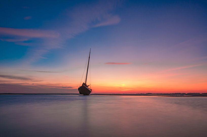 Sunset 3 van Albert Wester Terschelling Photography