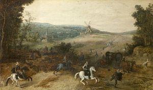 Landschaft mit Reisenden, von Räubern ausgeraubt, Sebastiaen Vrancx