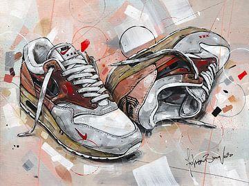 Nike air max 1 Amsterdam 2020 Gemälde von Jos Hoppenbrouwers