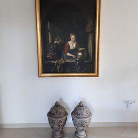 Photo de nos clients: Maid at the Window, Gerard Dou sur Meesterlijcke Meesters, sur toile