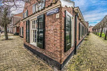 Hoekhuisje in Leeuwarden op de hoek van Luilekkerland van Harrie Muis