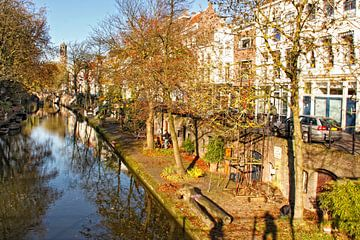 Oudegracht vanaf Vollersbrug van martien janssen