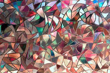 vrolijk abstract mozaïek van Hanneke Luit