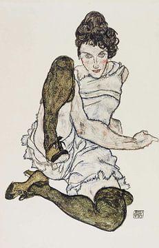 Sexy Zeichnung, Egon Schiele, 1920 von Atelier Liesjes