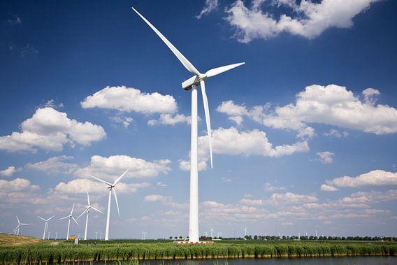 Windmolens in Flevoland van Jurgen Corts