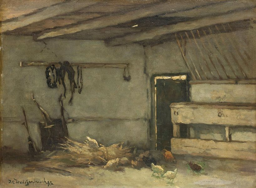 Stalinterieur, Johan Hendrik Weissenbruch