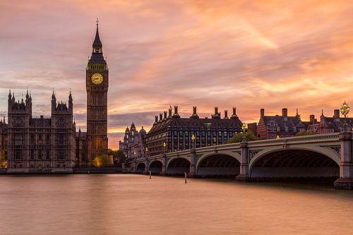 Zonsondergang in Londen