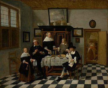 Familiengruppe in einem Interieur, Quiringh van Brekelenkam