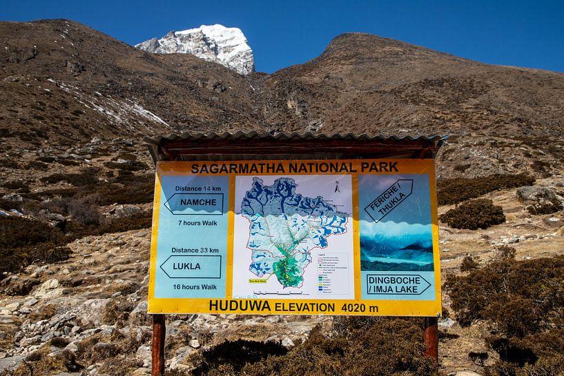 Sagarmatha National Park Nepal van Ton Tolboom