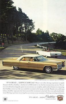 Cadillac reclame 60s van Jaap Ros