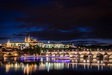 Die Altstadt und die Karlsbrücke in Prag, Tschechische Republik. von Sem Wijnhoven