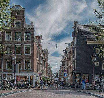 Prinsengracht en Runstraat Amsterdam van Peter Bartelings Photography