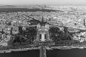 Die Ansicht von Paris vom Eiffelturm von MS Fotografie | Marc van der Stelt