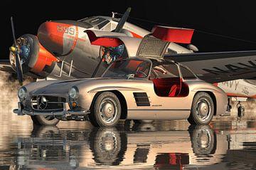 Mercedes 300SL Gullwings 1964 Türen öffnen von Jan Keteleer