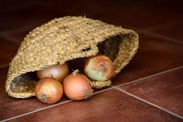 Zwiebeln im Korb von Ulrike Leone