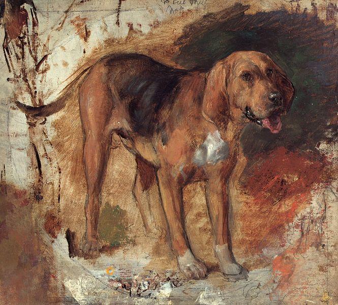 Holman Hunt - Study of a bloodhound van 1000 Schilderijen