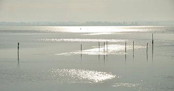 Winter op het Lauwersmeer von Henk Piek