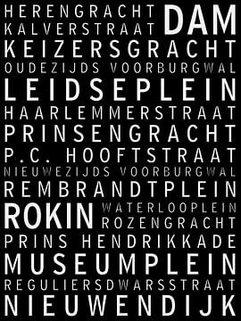 Amsterdam, bekende straten en pleinen van Maarten Knops