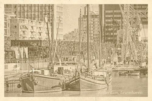 Alte Postkarte Leuvehaven, Rotterdam