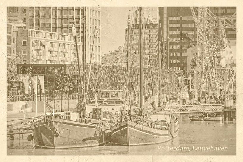 Oud ansicht Leuvehaven van Frans Blok