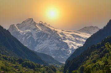 Een gebergte in Zwitserland