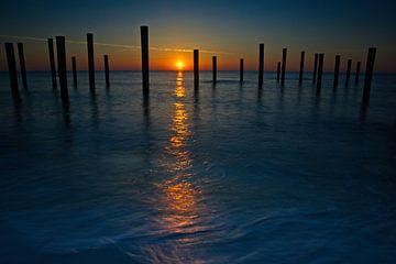 Sonnenuntergang bei Palendorp Petten von Audrey van der Hoorn