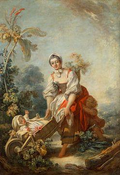 Fragonard, Jean-Honoré - Die Freuden der Mutterschaft