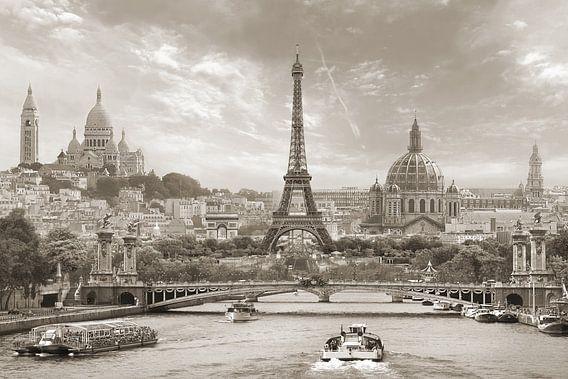 Parijs in een notendop -sepia-