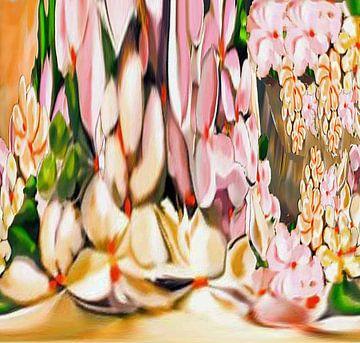Floral Abstract von Annaluiza Dovinos