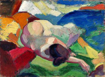 Akt, liegendes Modell, Carl Newman (1915-1916) von Atelier Liesjes