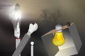 Thomas A. Edison invente l'ampoule électrique