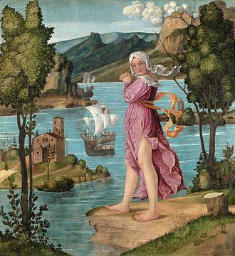 Vrouw staande aan de waterkant, Girolamo dai Libri