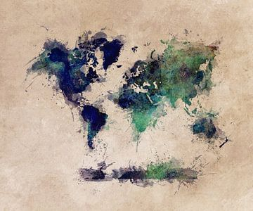 Wereldkaart 15 #kaart #wereldkaart van JBJart Justyna Jaszke