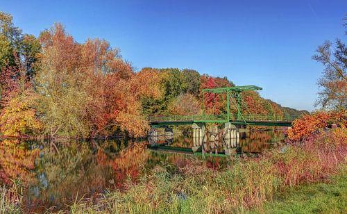 Kroonbrug in de Herfst , Biesbosch , Werkendam van Rens Marskamp