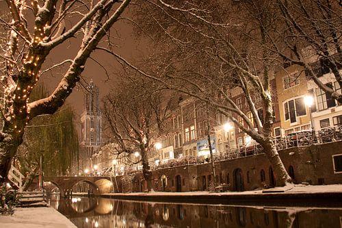 Winternacht aan de Oudegracht