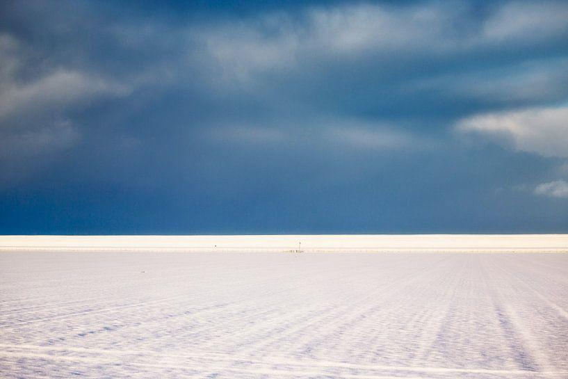 Landschap in blauw-wit van Jan Sportel Photography
