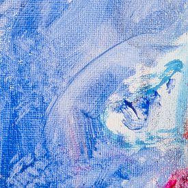 De pracht van blauw met een vleugje rood van Wendy Tellier - Vastenhouw