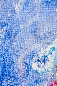 De pracht van blauw met een vleugje rood