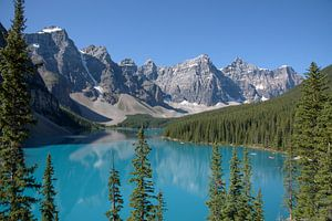 Morraine Lake in de Canadese Rocky Mountains