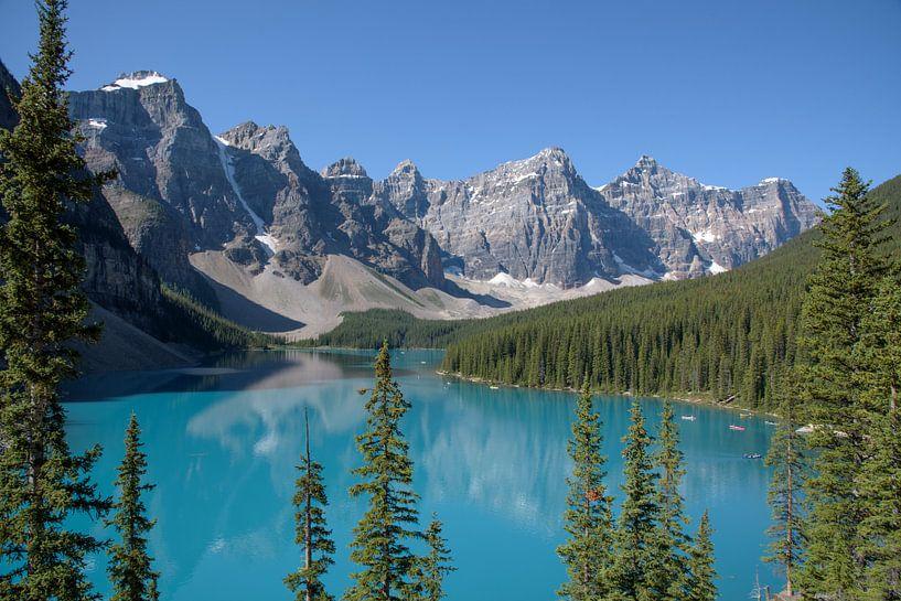 Morraine Lake in de Canadese Rocky Mountains von Arjen Tjallema