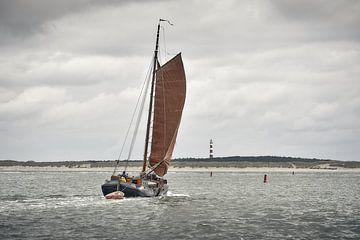 Segel-Tjalk bei Ameland von Johan Kalthof