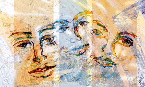 Overal gezichten van Eva van den Hamsvoort